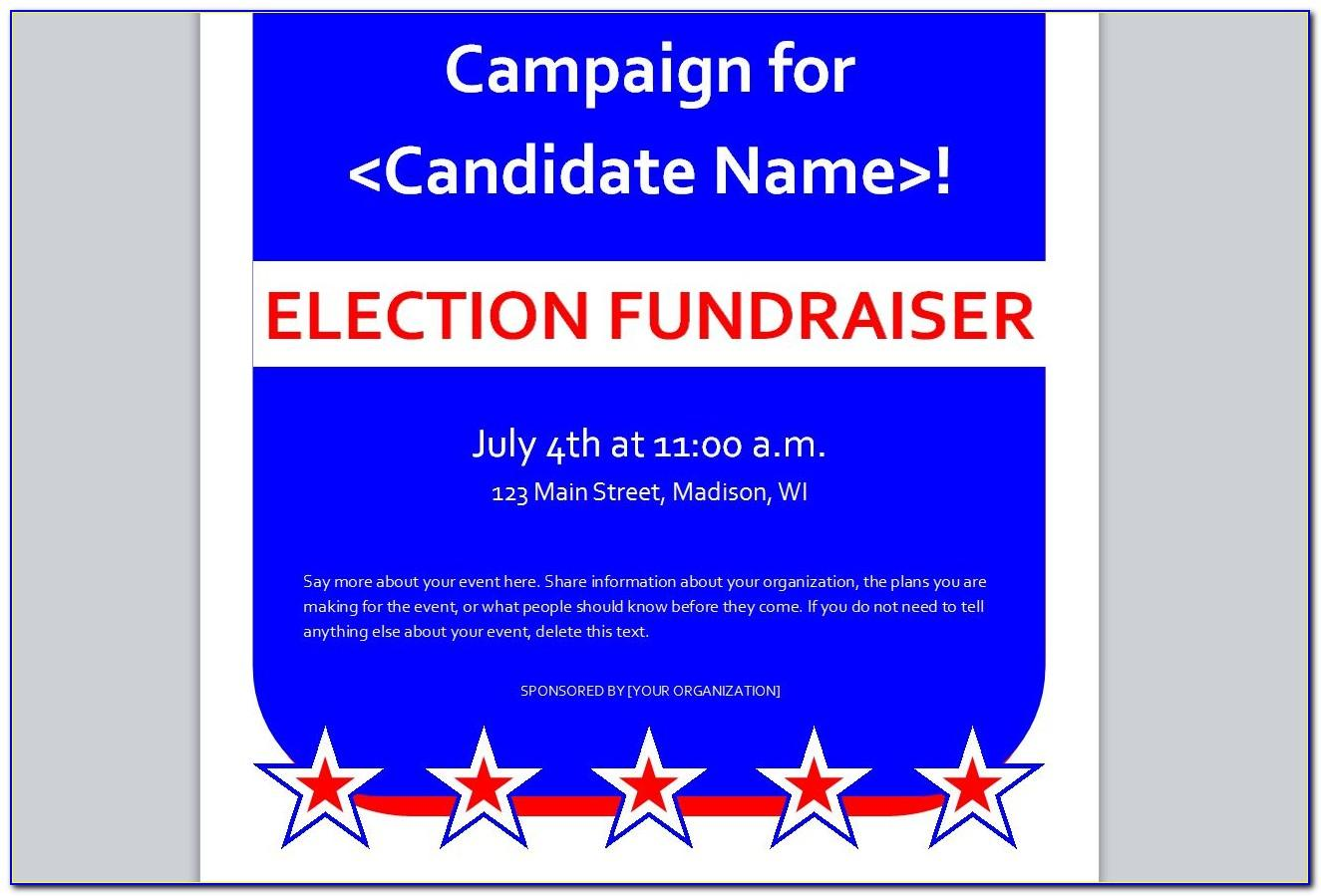 Political Flyer Template Free