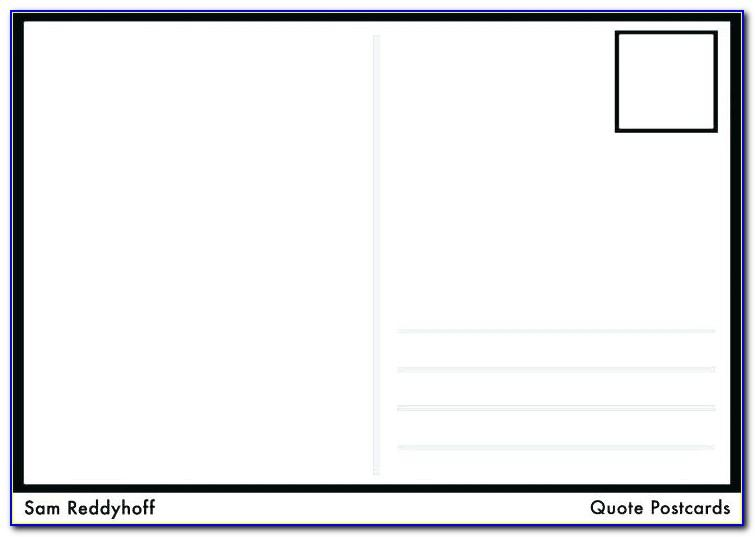 Postcards Template Word