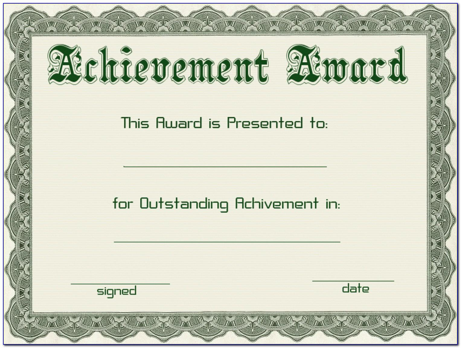 Powerpoint Template For Certificate Of Award