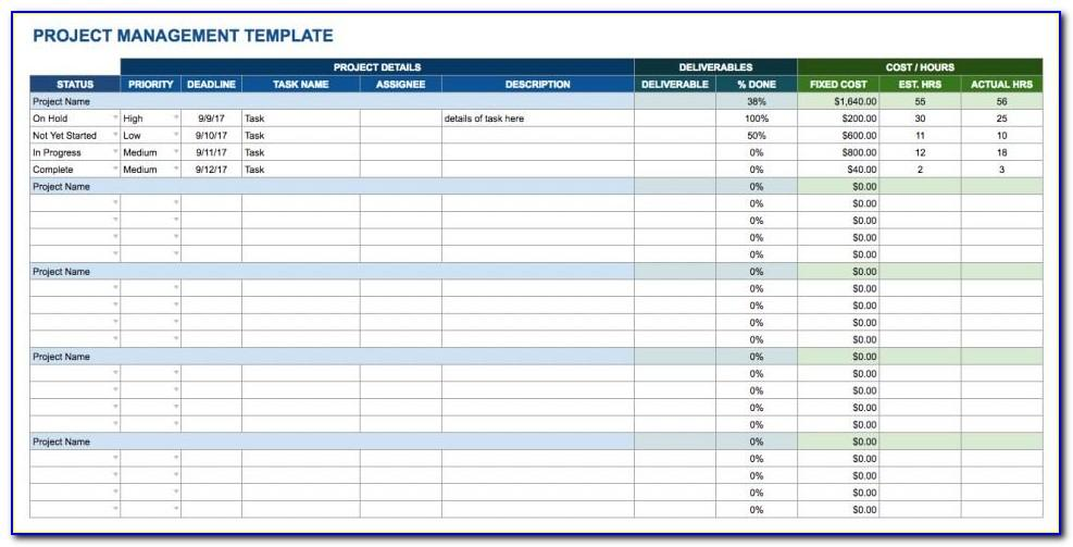 Project Planning Template Google Sheets