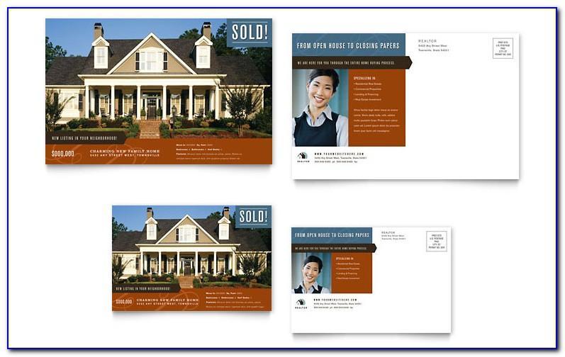 Real Estate Agent Postcard Templates