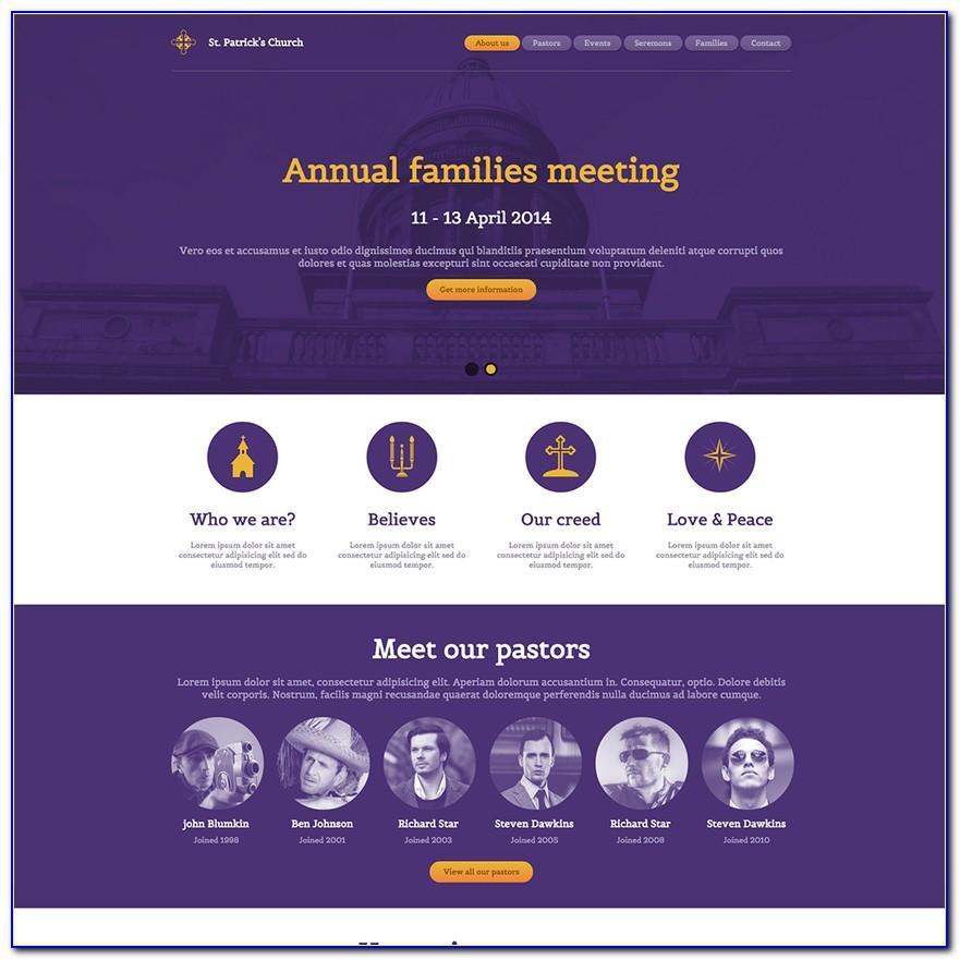 Responsive Church Website Templates Wordpress