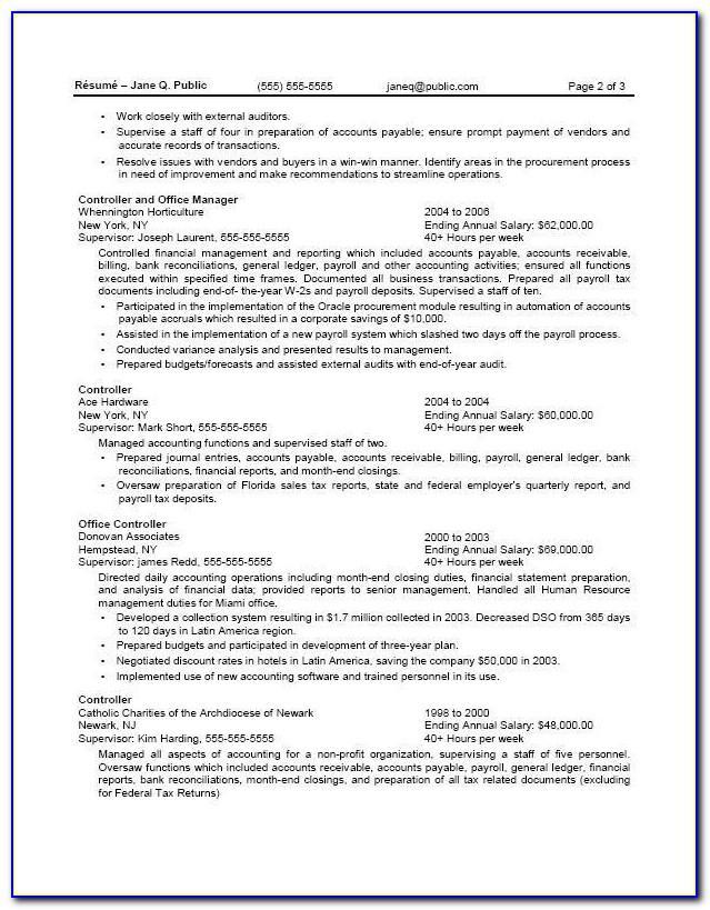 Resume Template Usa Jobs