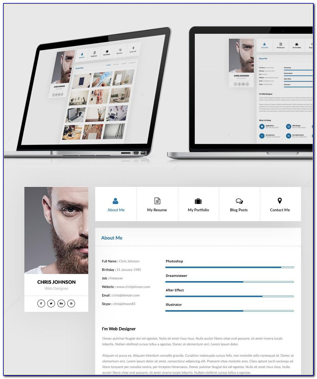 Resume Website Template Free Html
