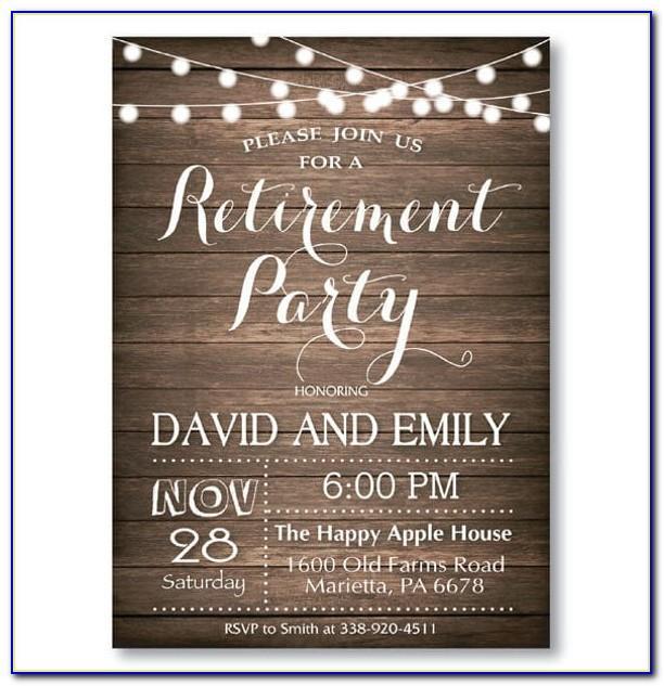 Retirement Invitations Templates Free