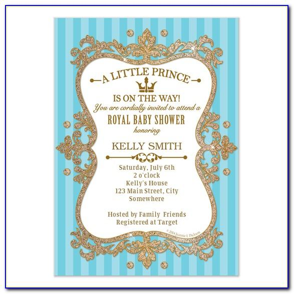 Royal Baby Shower Invitations Templates Free