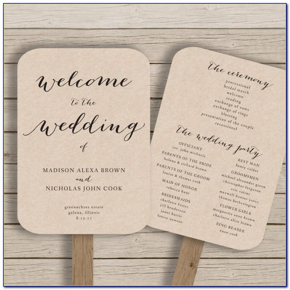 Rustic Wedding Program Templates Free