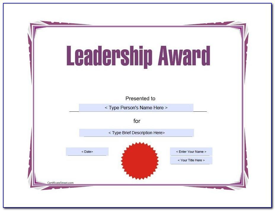 Sample Certificate Of Award Wording