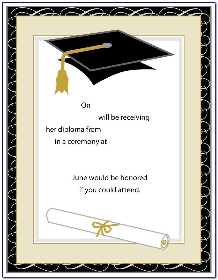 Sample Graduation Party Program Format