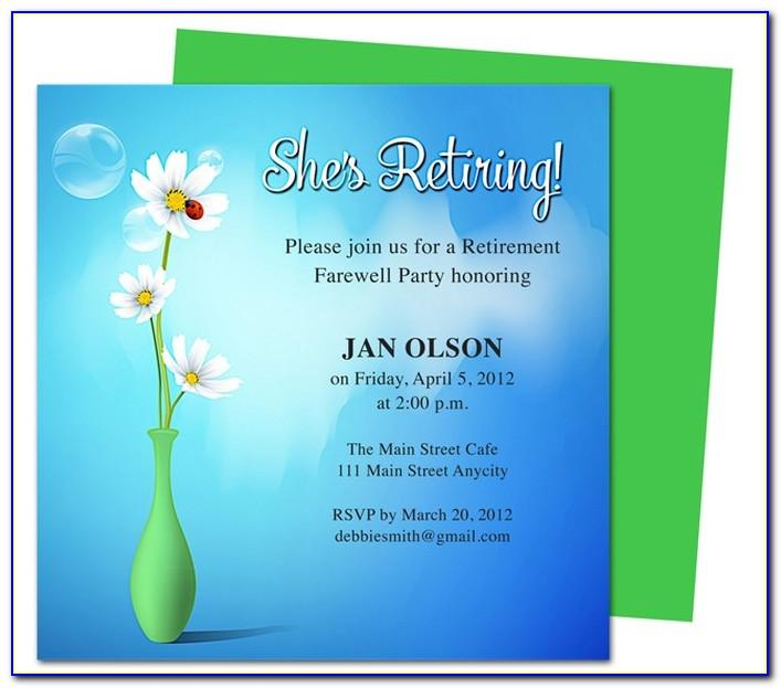 Sample Retirement Invitation Templates