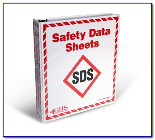 Sds Binder Table Of Contents Template