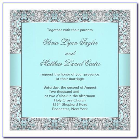 Silver Wedding Invitation Templates Free Download