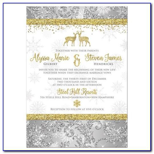 Silver Wedding Party Invitation Templates