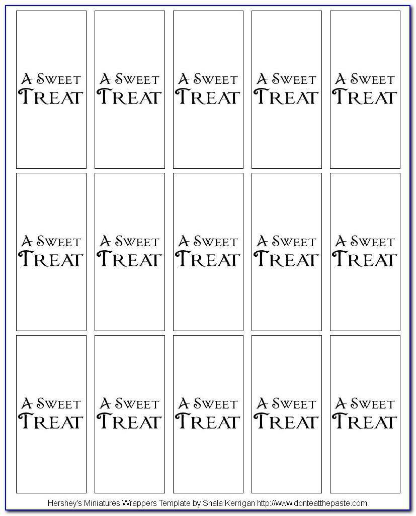 Small Candy Bar Wrapper Template