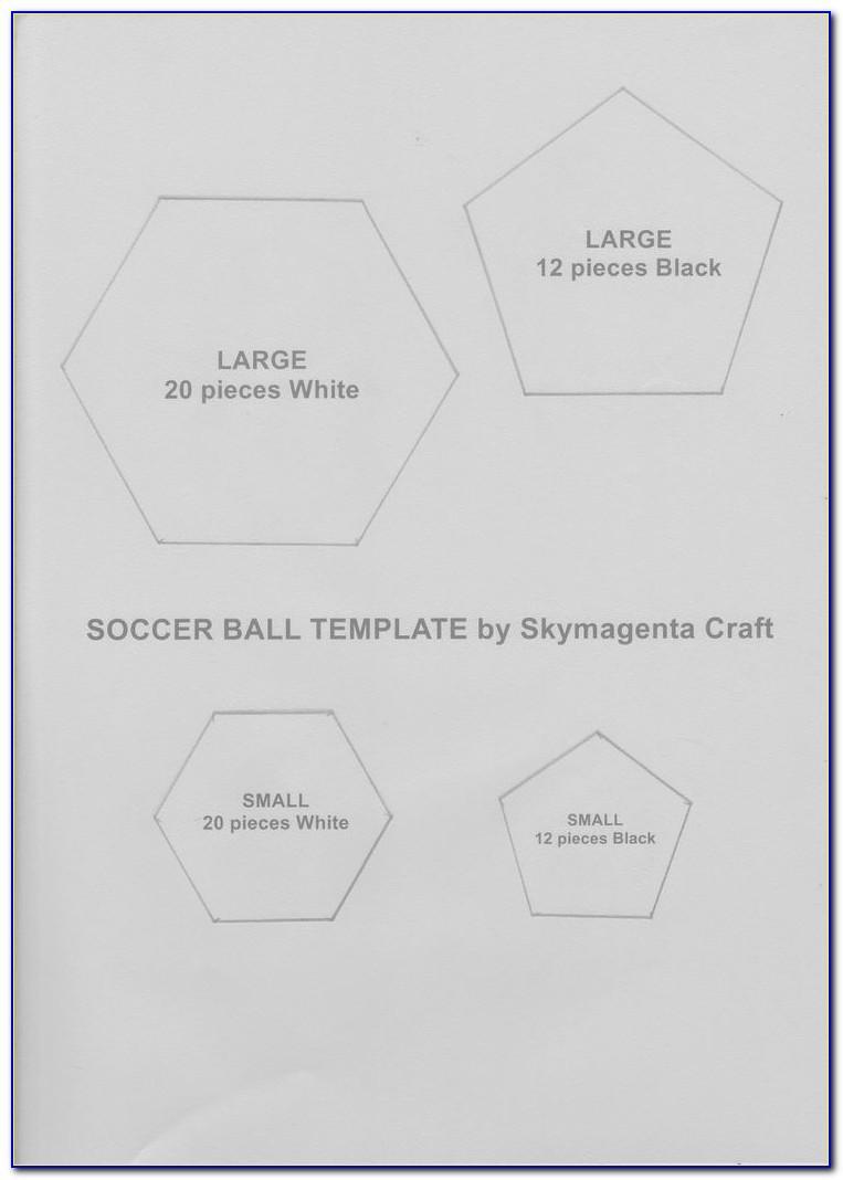 Soccer Ball Cake Template Printable