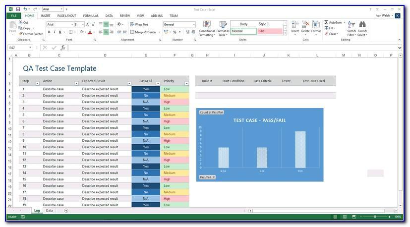 Software Test Case Template Excel Download