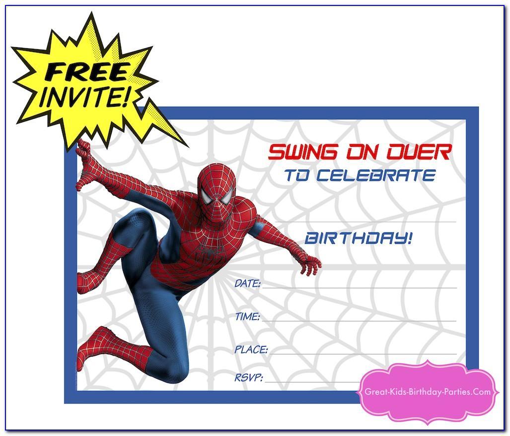 Spiderman Birthday Invitation Designs