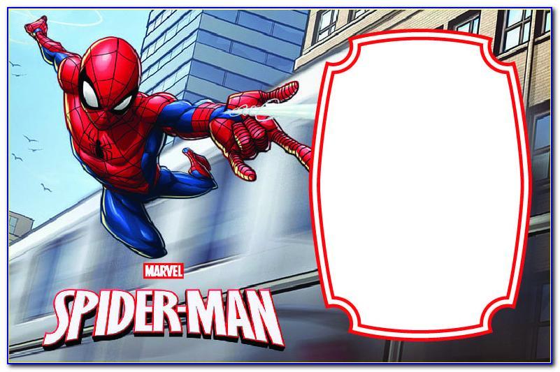 Spiderman Birthday Invitation Template Free