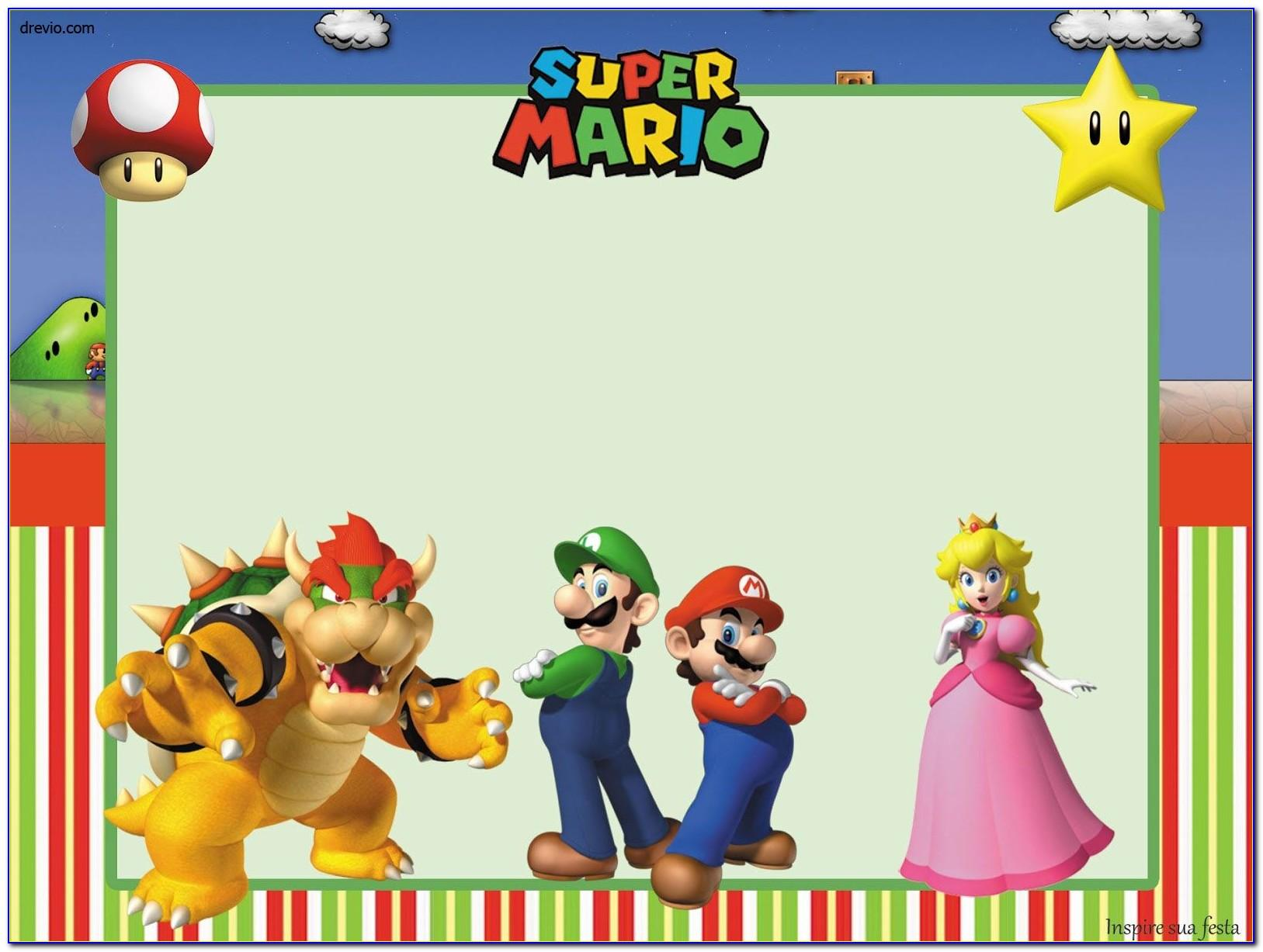 Super Mario Invitations Free Printables