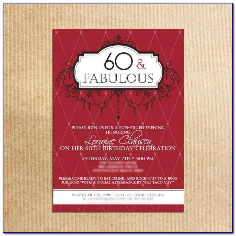 Surprise 60th Birthday Invitation Templates Free Download