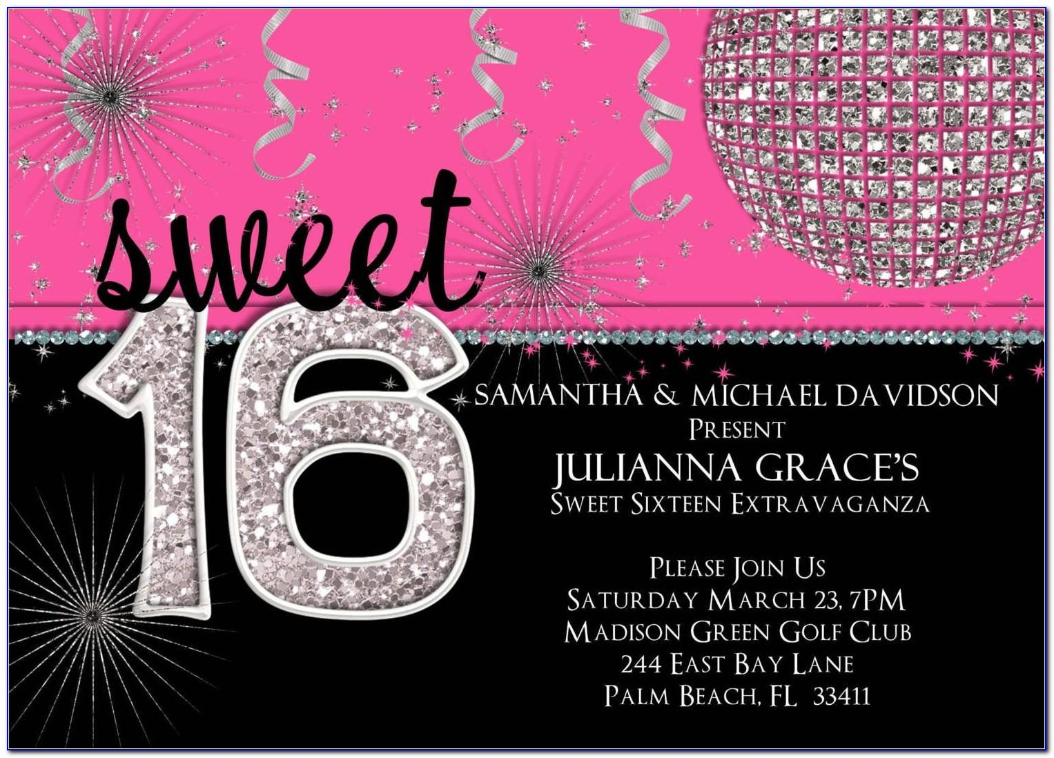 Sweet Sixteen Invitation Templates Free