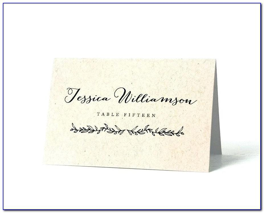 Table Escort Cards Templates
