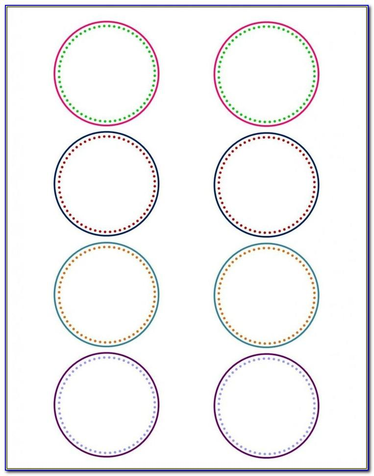 Template For Circle Labels