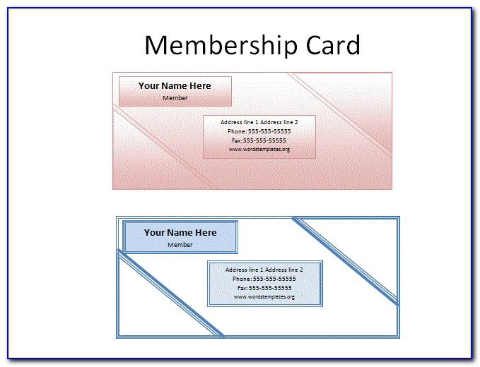 Template For Membership Cards