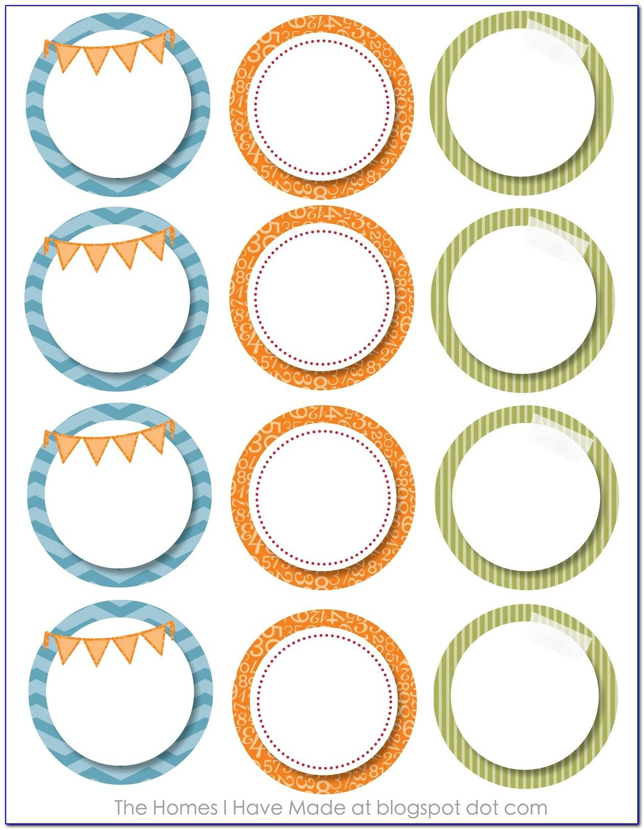 Template For Round Labels 12 Per Sheet