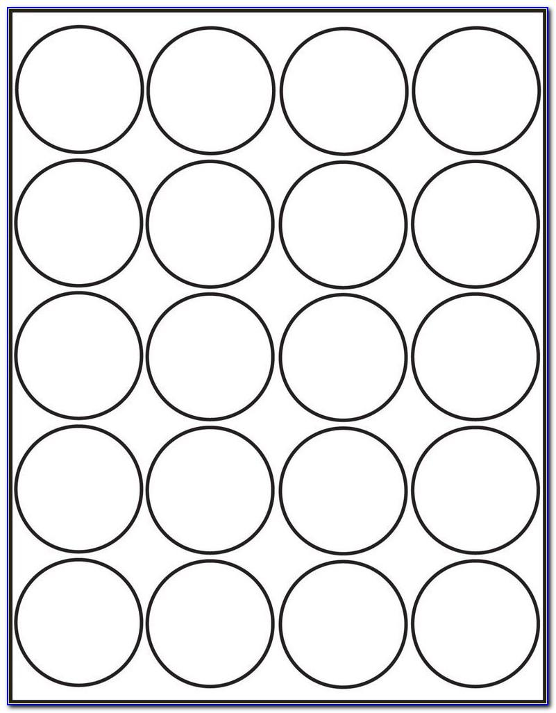 Template For Round Labels 15 Per Sheet