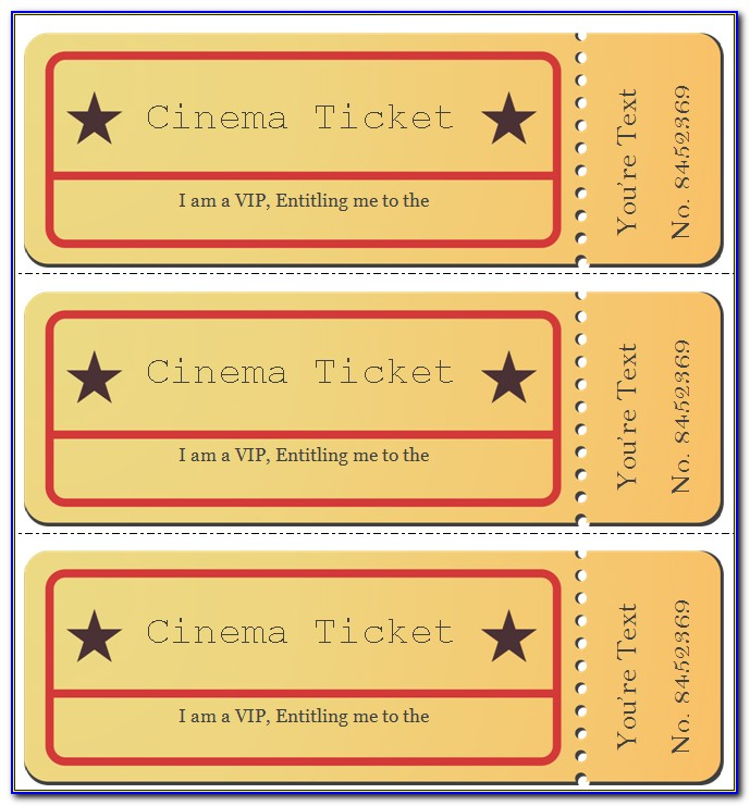 Theatre Ticket Gift Template