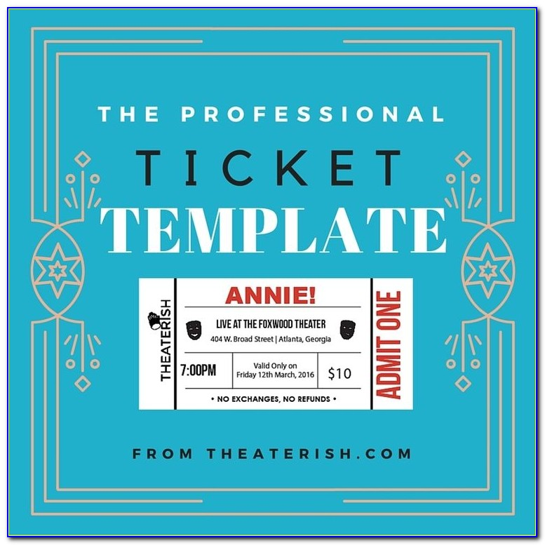Theatre Ticket Template Free Download