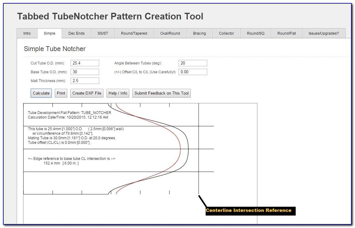 Tube Notching Paper Templates