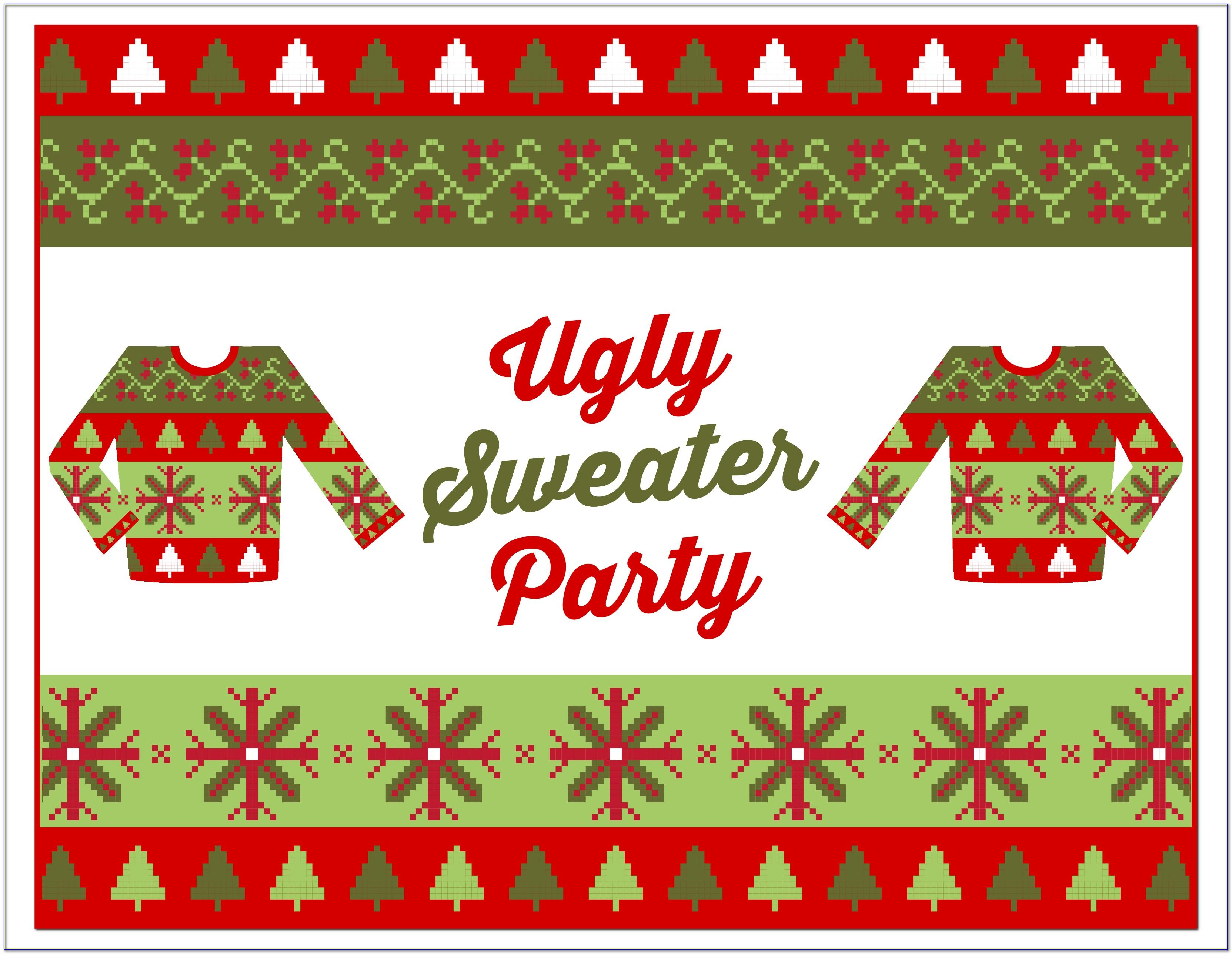 Ugly Sweater Party Word Template