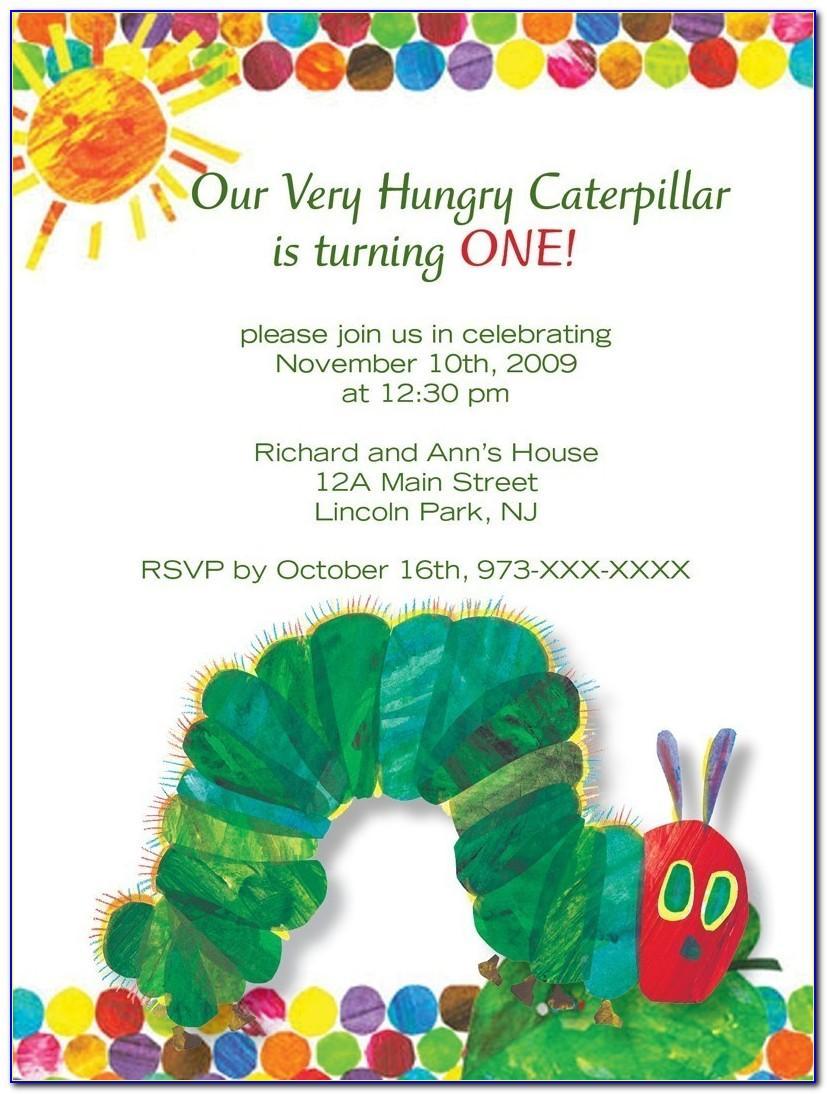 Very Hungry Caterpillar Birthday Invitation Template