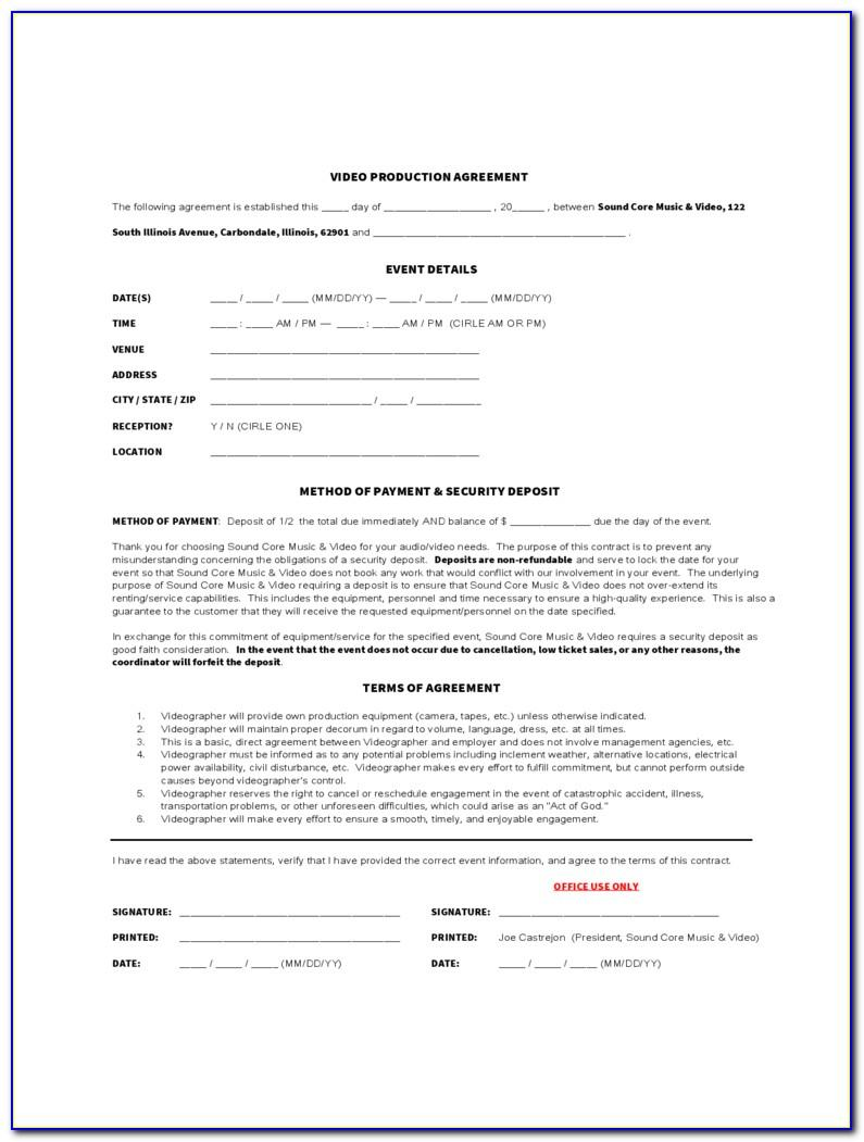 Videography Agreement Template
