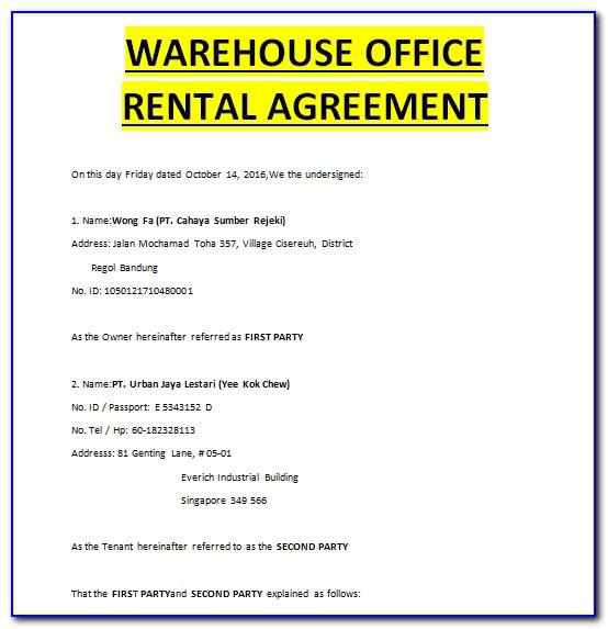 Warehouse Storage Agreement Template