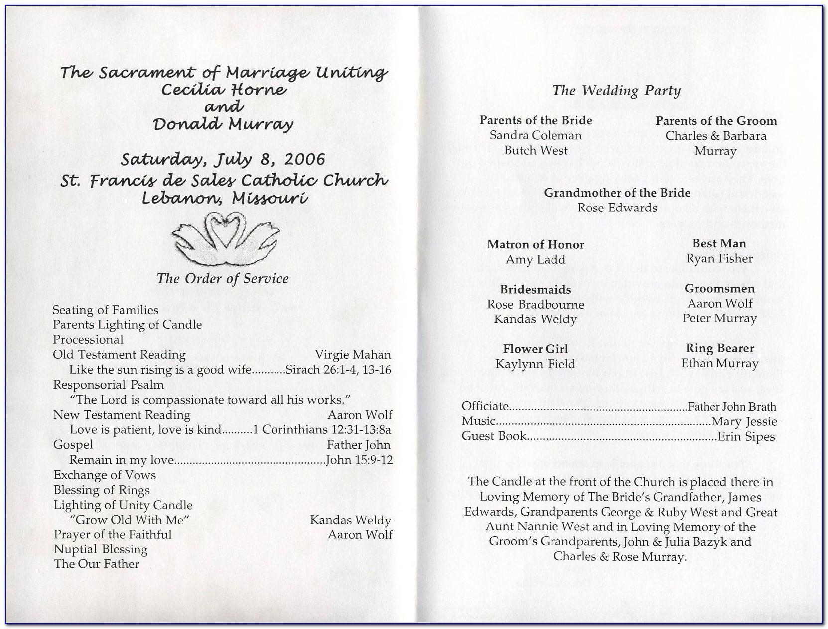 Wedding Program Templates Free Download