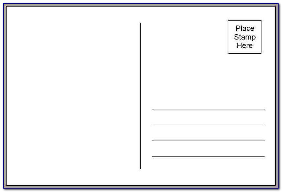 Word Template Postcards