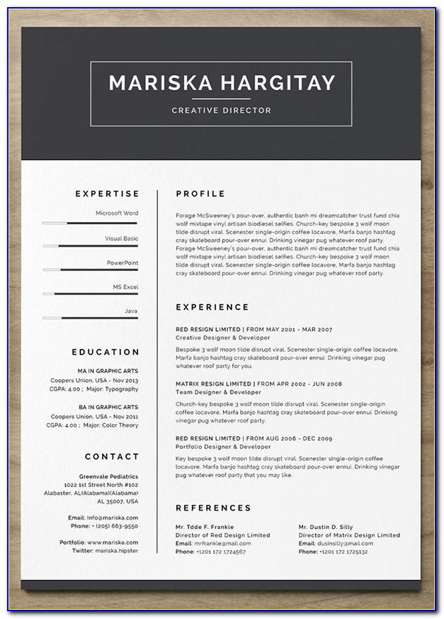 Word Templates For Resumes Free
