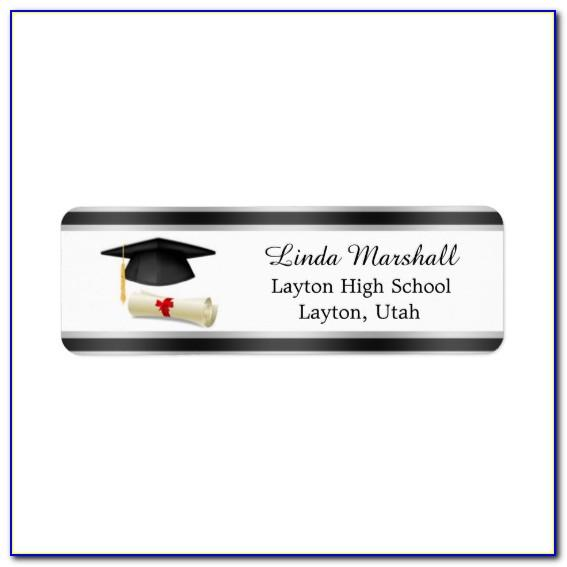 2019 Graduation Return Address Labels Templates Free