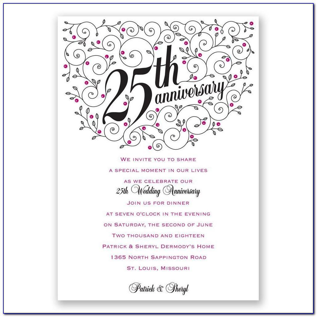 25th Anniversary Invitation Card Maker Free