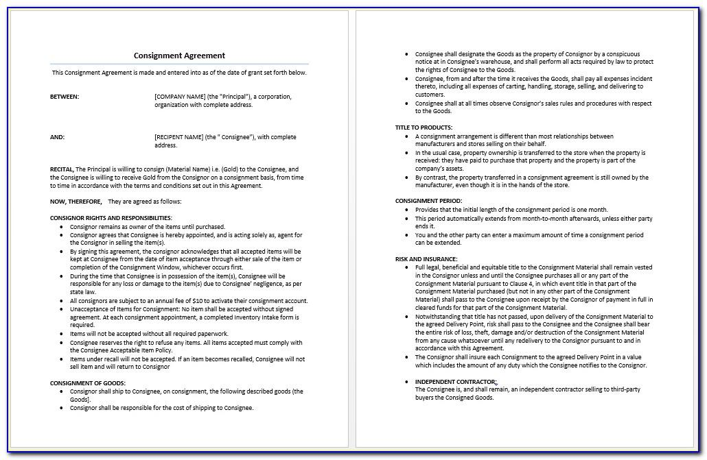 3rd Party Logistics Agreement Template
