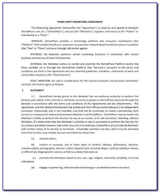 3rd Party Wall Agreement Template