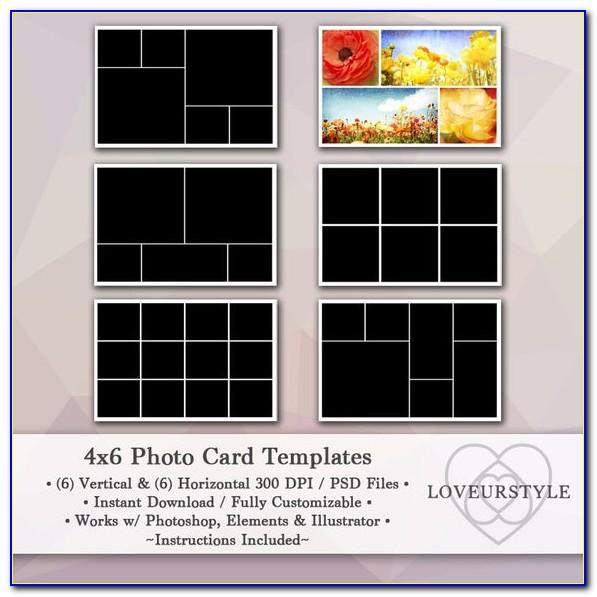 4x6 Photo Collage Template