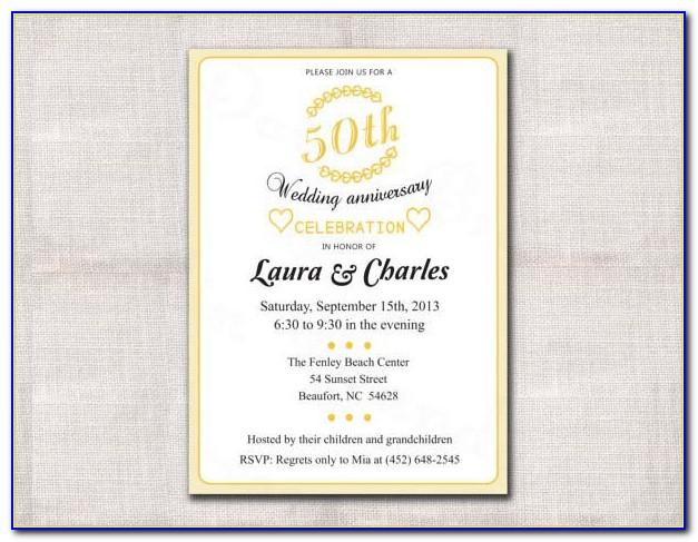 50th Anniversary Invites Templates Free