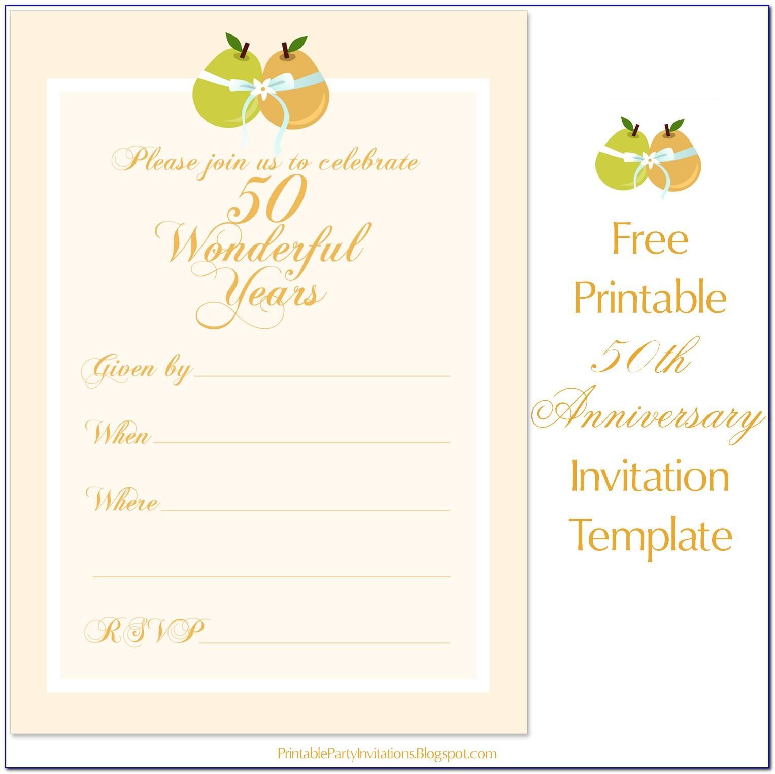 50th Wedding Anniversary Template