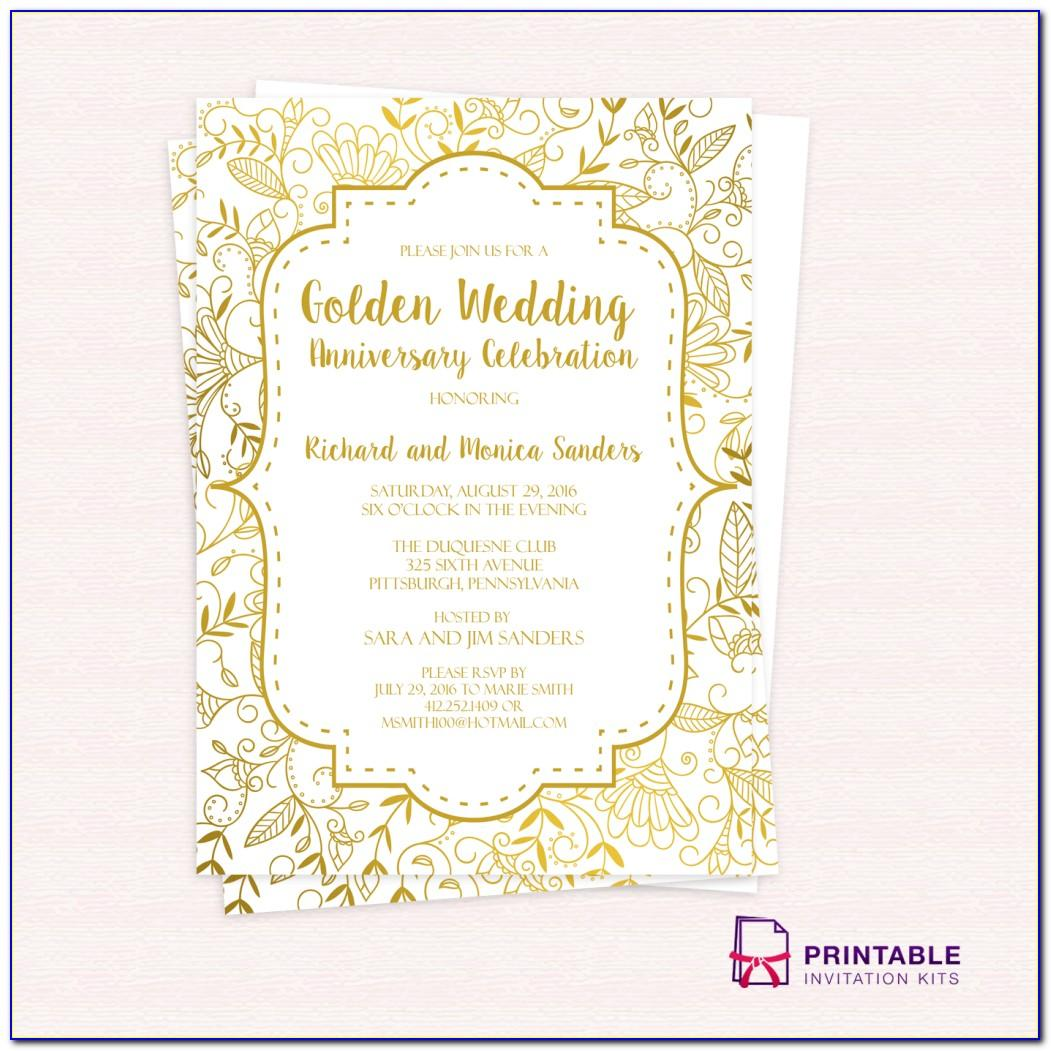 50th Wedding Anniversary Templates Free Download