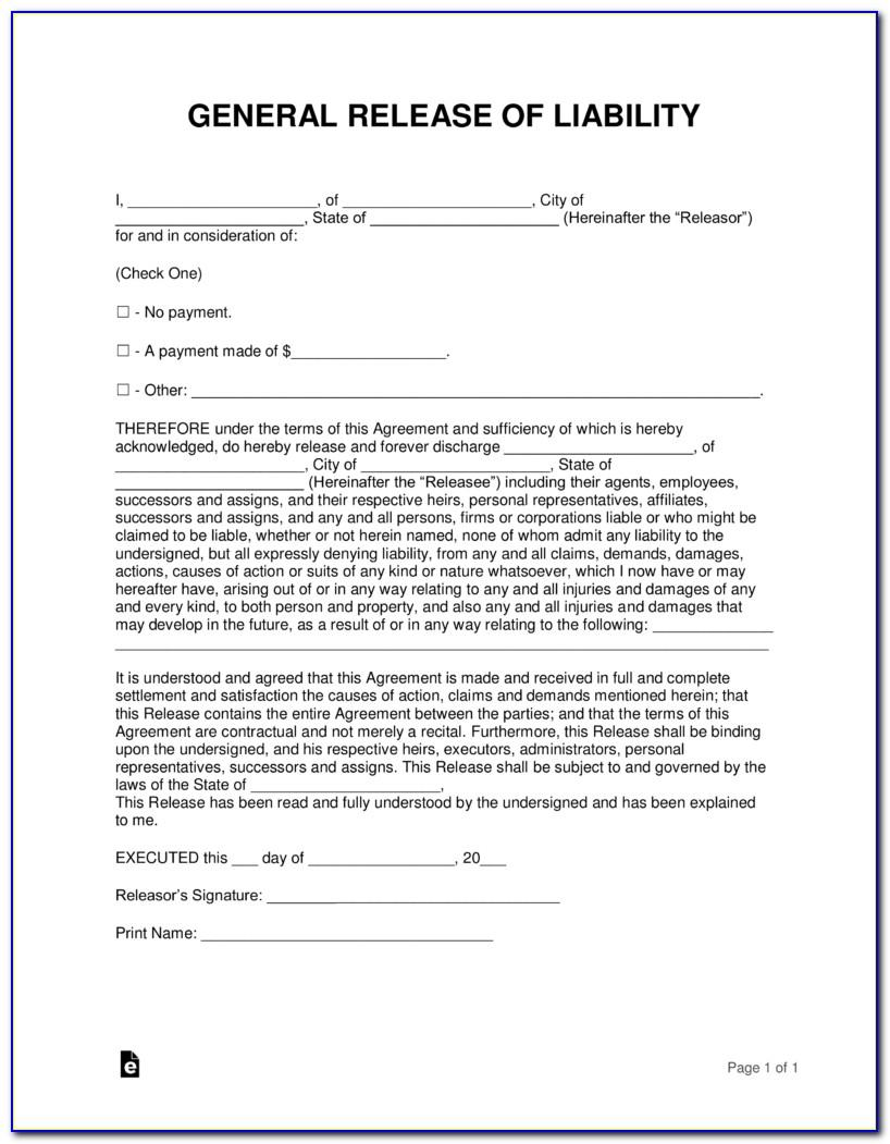 Accident Waiver Template