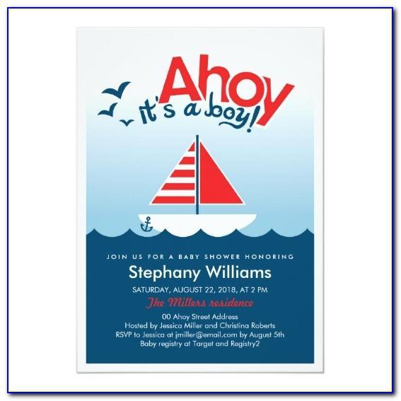Ahoy Its A Boy Invitation Template